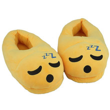 2017 New Cute Emoji Slippers Cartoon Plush Slipper Home With The Full Expression Women Slippers Winter House Shoes 35-44