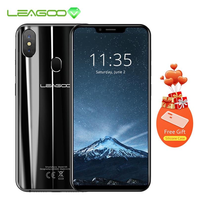 "LEAGOO S9 5.85"" HD+ IPS 19:9 Screen RAM 4GB ROM 32GB Android 8.1 MT6750 Octa Core 13MP Dual Rear Cams 3300mAh 4G Mobile Phone"