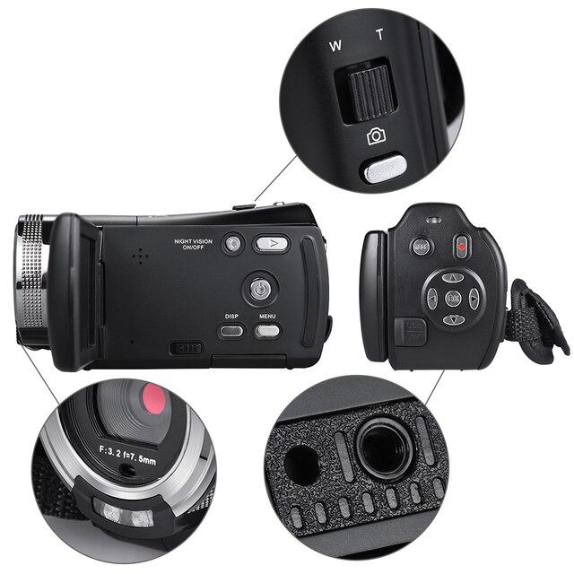 Andoer V12 1080P Full HD 16X Digital Zoom Recording Video Camera Portable Camcorder Max. 20 Mega Pixels 4