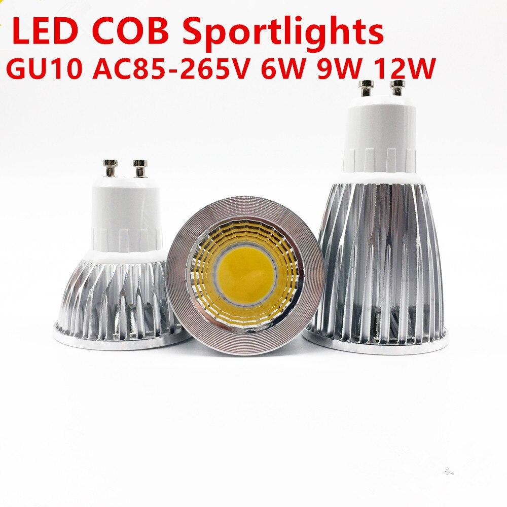 Super lumineux GU10 ampoule dimmable 110 V 220 V chaud/Pur/blanc Froid 85-265 V 6 W 9 W 12 W GU10 COB lampe led GU10 led spotlightSuper lumineux GU10 ampoule dimmable 110 V 220 V chaud/Pur/blanc Froid 85-265 V 6 W 9 W 12 W GU10 COB lampe led GU10 led spotlight