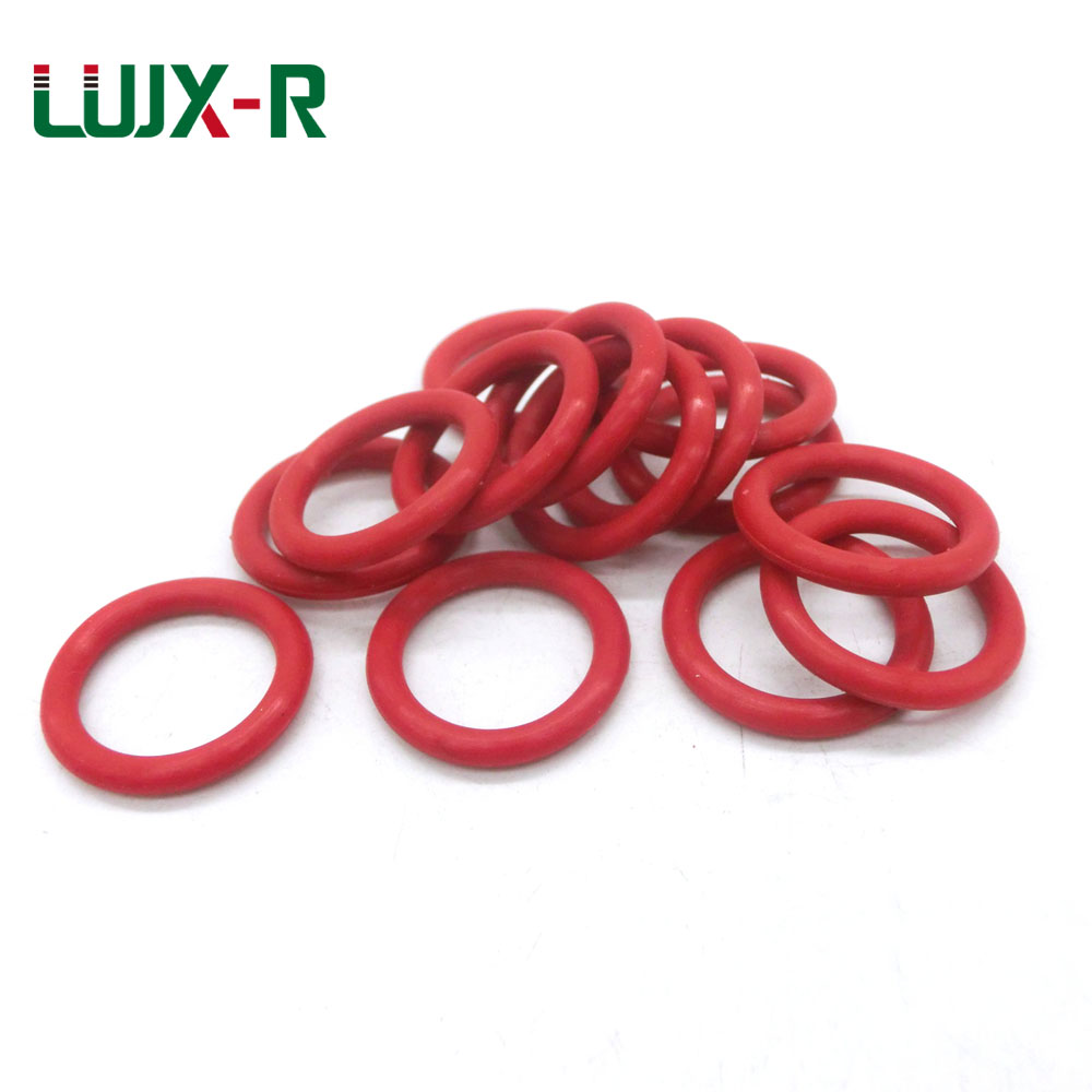 LUJX-R O Ring Seal 4mm Red Silicone Gasket Sealing VMQ O-Ring Washer OD 28/31/32/34/36/37/39/40mm O Type Ring Watertightness cd ресивер denon rcd m41 silver