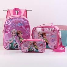 New Cartoon Kids Princess Elsa and Sofia Schoolbag Cute Girls Lovely Snow  white School Bag LOL 75158df23a1c9