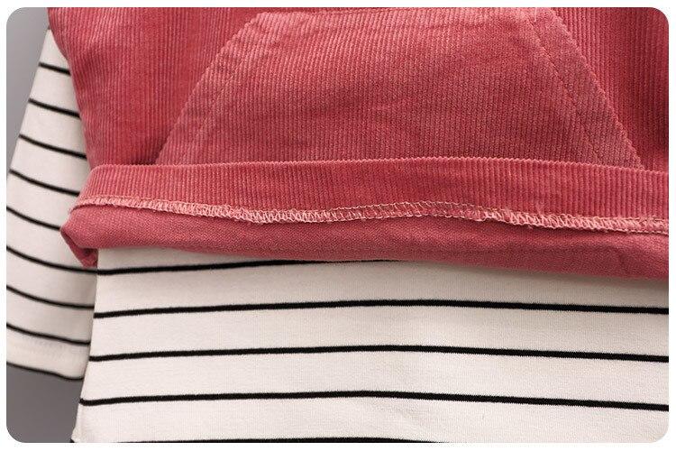 2016 г., осенний комплект из 4 предметов, корейская детская футболка для девочек верхняя одежда без подкладки, жилет, шорты, костюм со штанами - 5