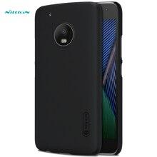 Оригинал Nillkin Чехол матовый для MOTO G5 Plus чехлы крышка 5.2 дюймов жесткие пластиковые подарочные Экран протектор для Motorola G5 Plus