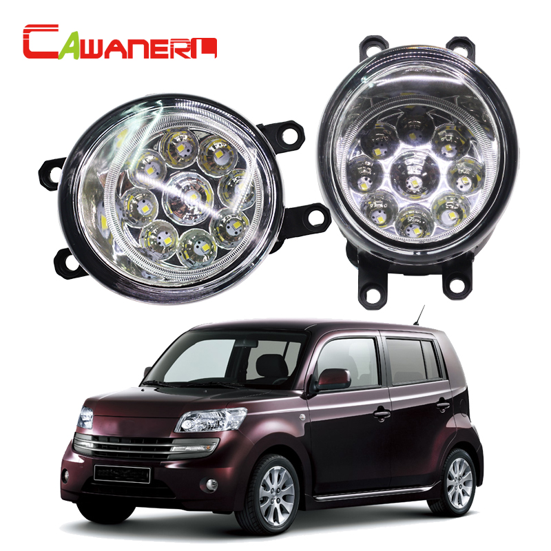 Cawanerl 1 Pair Car LED Bulb Left + Right Fog Light Daytime Running Light DRL 12V DC For Daihatsu Materia (M4_) MPV 2006- cawanerl 2 pieces car styling left right fog light led drl daytime running lamp white 12v for toyota camry 2006 2012