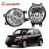 Cawanerl 1 Pair Car LED Bulb Left Right Fog Light Daytime Running Light DRL 12V DC