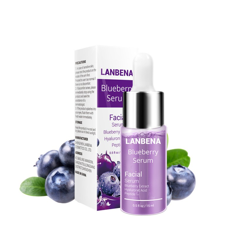 Hyaluronic Acid Essence Blueberry Essence Moisturizing Reduces Fine Line Whitening Anti-Aging Anti-Wrinkle Skin Care