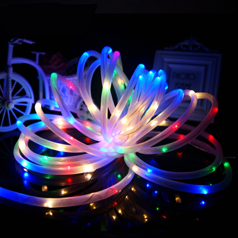 Solar led rope lights outdoor outdoor lighting ideas 4colours waterproof 7m 50 led solar rope string light strip fairy lighting outdoor garden xmas party aloadofball Image collections