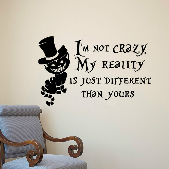 Wall stickers quotes i am not crazy vinyl wall decals room art