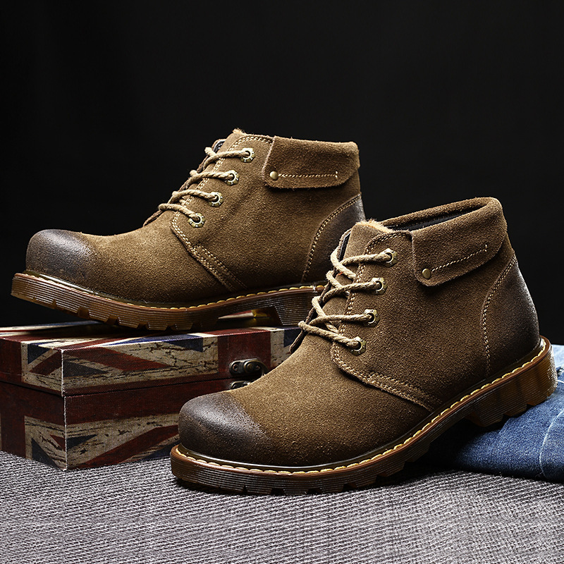 2015 Winter font b Boots b font Autumn The Trend Genuine Leather Male Casual Shoes With