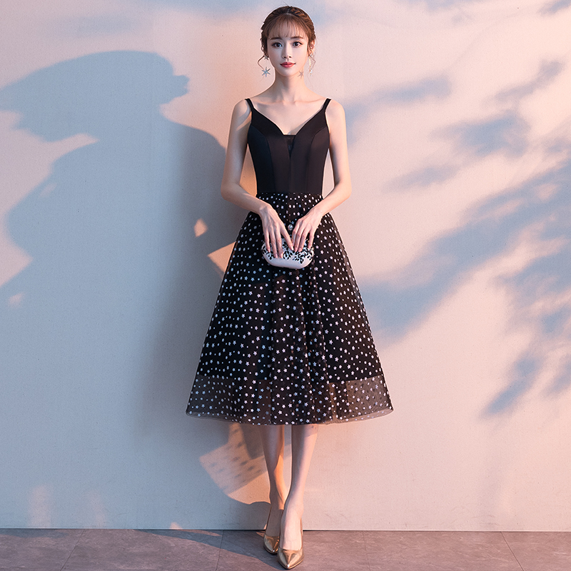 Evening     Dresses   Long Party 2019 Bohemian   Evening   Gown V-Neck Tea-Length Stretch fabric Women Banquet Formal   Dress   LF367