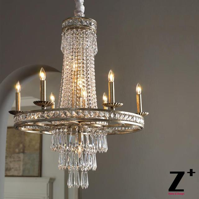 Aliexpress buy replica item camella chandelier vintage 19th c replica item camella chandelier vintage 19th c rococo iron clear crystal round chandelier lustre mozeypictures Gallery