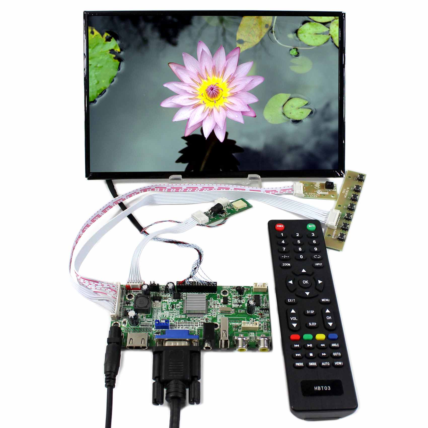 HDMI+VGA+AV+Audio+USB LCD Controller Board With 10.1inch 1920x1200 B101UAN02.1 LCD ScreenHDMI+VGA+AV+Audio+USB LCD Controller Board With 10.1inch 1920x1200 B101UAN02.1 LCD Screen