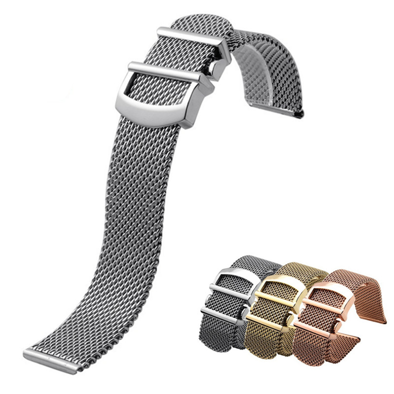 20mm 22mm Women Men Stainless Steel Braided Watch Strap Band For IW458110 Mark Pilot Watchband20mm 22mm Women Men Stainless Steel Braided Watch Strap Band For IW458110 Mark Pilot Watchband