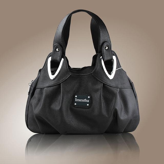 Teste padrão de flor Top-Handle Bags para Meninas Hobos bolsas pequenas de Couro Das Mulheres sacola do Saco Das Mulheres do Sexo Feminino bolsas pretas e bolsas