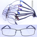 Wholesale SL26709 simple full-rim front acetate temple flexible hinge retangle stylish metal optical frame free shipping