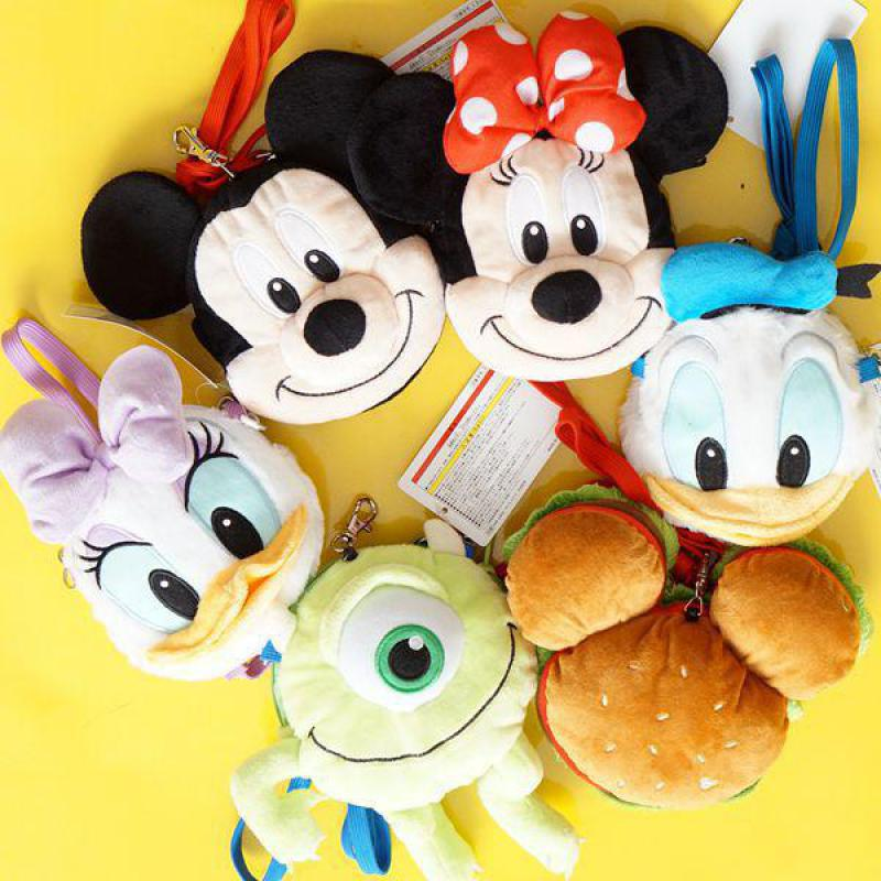 Cute Cartoon Mickey Mouse Minnie Donald Duck Daisy Plush Backpack Kawaii Animals Bags Girls Shoulder Bag Children Birthday Gifts
