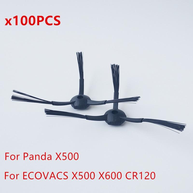Wholesale 100 pcs side Brushes (50 L+ 50 R) for Dibea Depoo Panda X500 ECOVACS X500 X600 CR120 Panda Robot vacuum cleaner colorful panda фиолетовый l