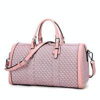 Pink/Purple Women Sports Gym Bag PVC Waterproof Lady Yoga Bag 30L Large Capacity Outdoor Training Bag Girl Travel Crossbody Bag