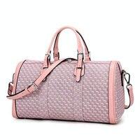 Pink Purple Women Sports Gym Bag PVC Waterproof Lady Yoga Bag 30L Large Capacity Outdoor Training