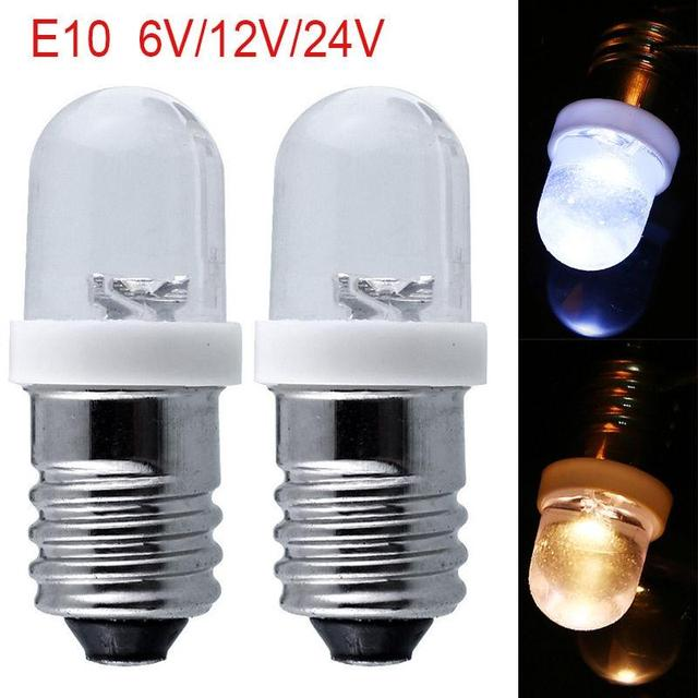 akdsteel e10 light bulbs dc 6/12/24v led screw base indicator bulb