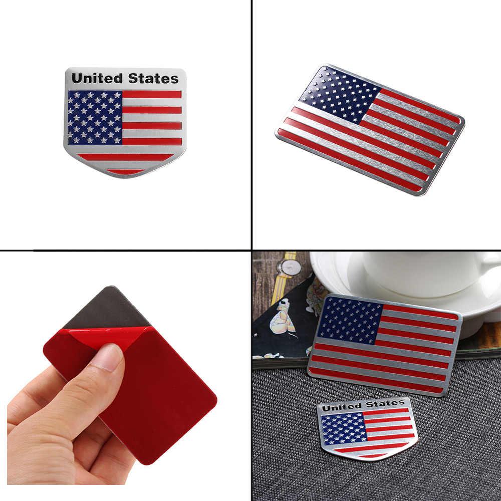 """ארה""""ב אמריקאי דגל 3D רכב מדבקה אוטומטי דקור מדבקות תג סמל רכב סטיילינג מדבקת עבור ג 'יפ Bmw פיאט פולקסווגן פורד אאודי הונדה טויוטה"""