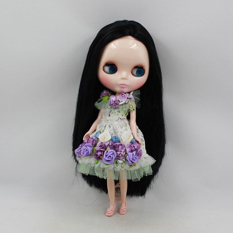 Oyuncaklar ve Hobi Ürünleri'ten Bebekler'de Blythe Doll Çıplak Bebek Serisi No.230BL9601 siyah Saç Için Uygun DIY Değişim Oyuncak Kızlar Için'da  Grup 3
