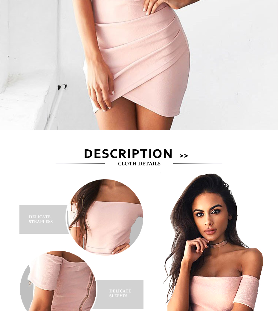 Refeeldeer Summer Dress Women 2017 Off Shoulder Short Party Dress Sexy Pink Black Backless Mini Dress Summer Sundress Robe Femme 3