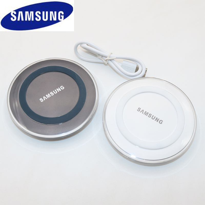 Original Samsung QI Wireless Charger Adapter 5V/2A Charger Pad For Galaxy S7 S6 EDGE S8 S9 S10 Plus Note 4 5 for Iphone 8 XS XR-in Mobile Phone Chargers from Cellphones & Telecommunications on