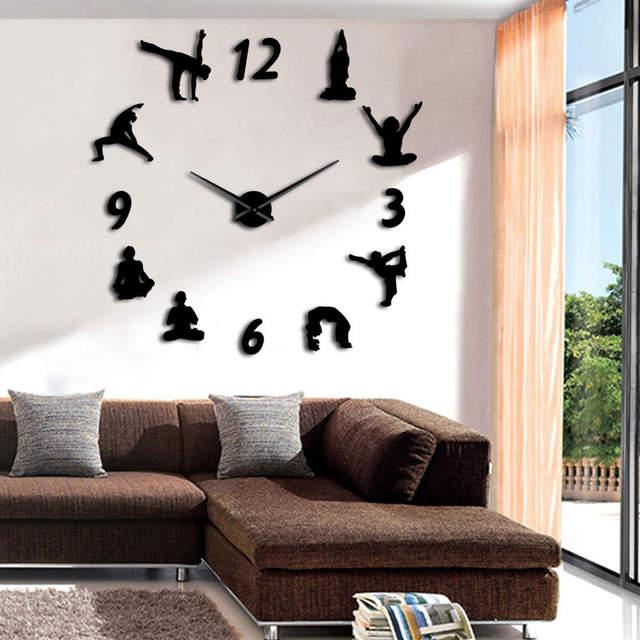 1piece Yoga Large Wall Clocks Watch Modern Design Geek Decoration - 10-geek-furniture-designs