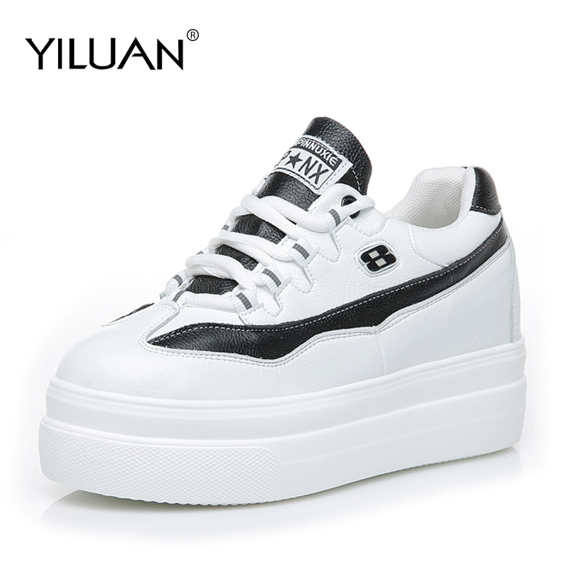 2019 New Thick soled white shoes platform spring summer wild version breathable increase Sneakers women small