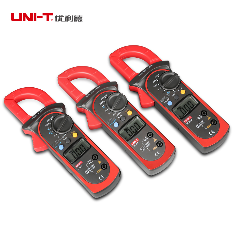 UNI-T UT201 UT202 UT202A UT203 UT204 UT204A AC Digital Clamp Multimeter Auto Range AC/DC Voltage Detector Meter Tester автомобильные антенны language rd page 3 page 4 page 2 page 5