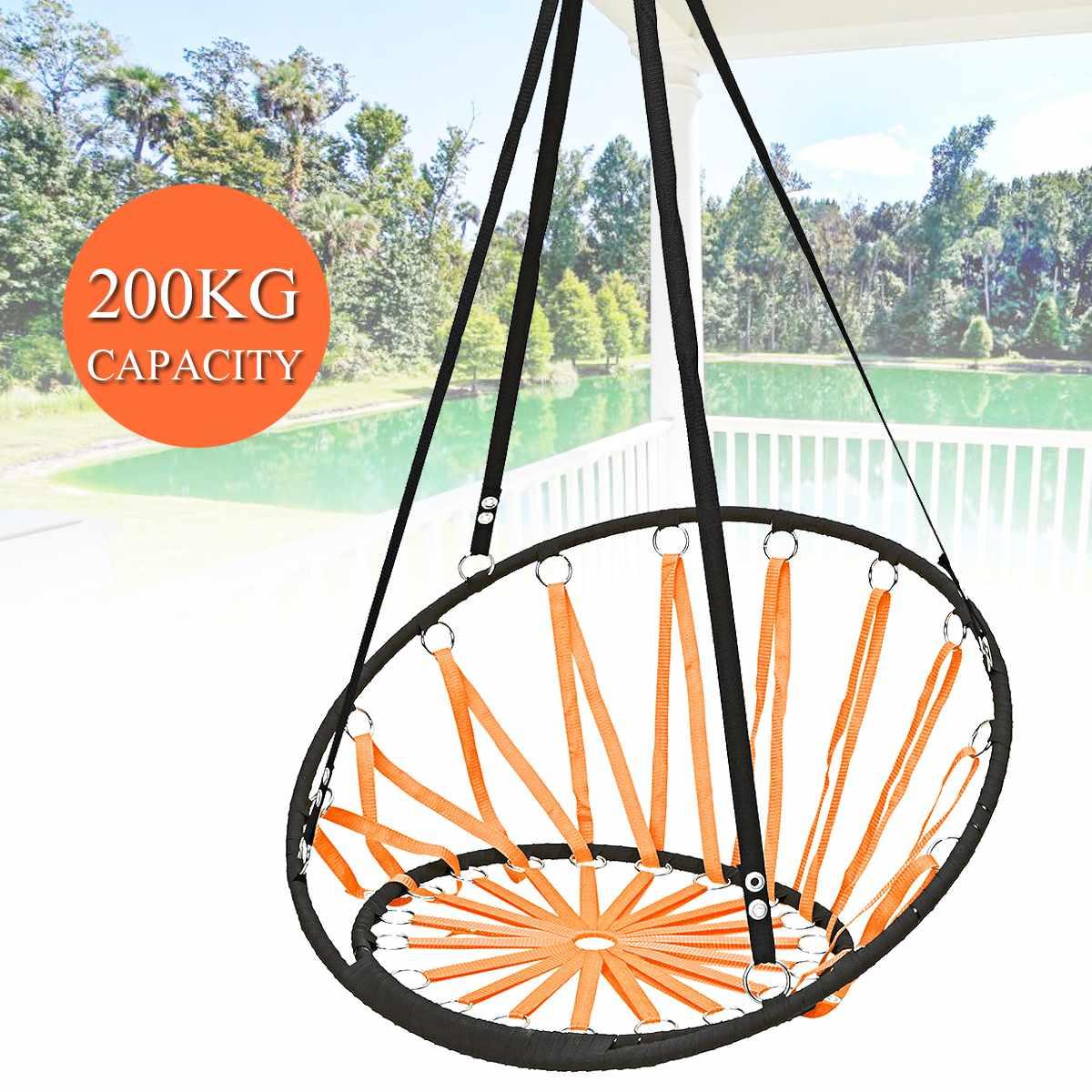 Nordique en plein Air intérieur coton corde hamac chaise balançant suspendu chaise jardin Air porche balançoire chaise dortoir Camping siège