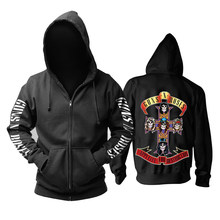 26 Ontwerpen Guns N Roses Sweatshirt Gnr Katoen Rock Rits Hoodies Shell Jas Guns N 'Roses Punk Hardrock Heavy Metal sudadera(China)