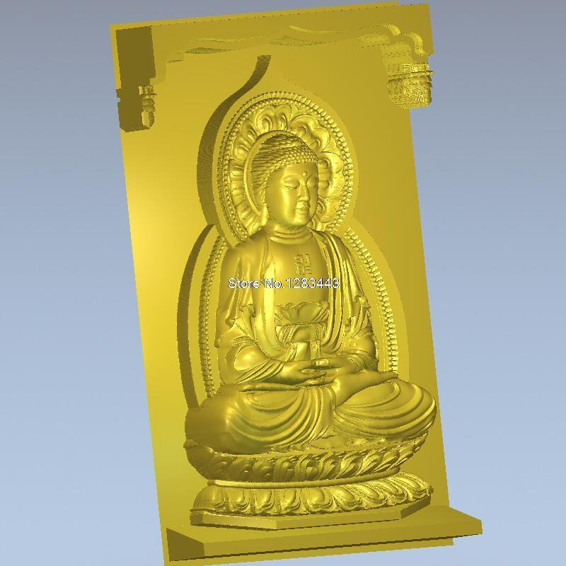 Lord Buddha 3D Model For 4 Axis Circular Diagram 3D Carved Figure Sculpture Cnc Machine In STL File