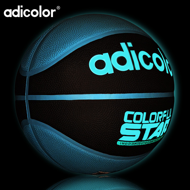 7# Luminous Street Rubber Basketball Ball Night Game Train PU Rubber Luminescence Light  ...
