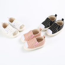 2019 Brand New Pram Newborn Toddler Baby Girls Boys Kids Infant First Walkers Polka Dot Classic Shoes Loafers Casual Soft Shoes(China)
