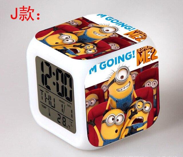 Despicable Me Minions Schlafzimmer Uhr Digital LED 7 Farbe Blitz Ändern  Nachtlicht Wecker Reloj Despertador