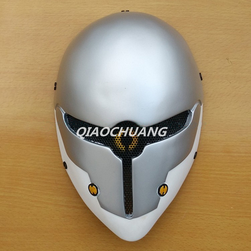 Metal Gear Solid V The Phantom Pain Mask Helmet Halloween Cosplay Gray Fox Horror Helmet  Halloween Props Role Play Cosplay Mask hellboy mask breathable full face mask kroenen helmet halloween cosplay horror helmet karl ruprecht kroenen halloween props w153