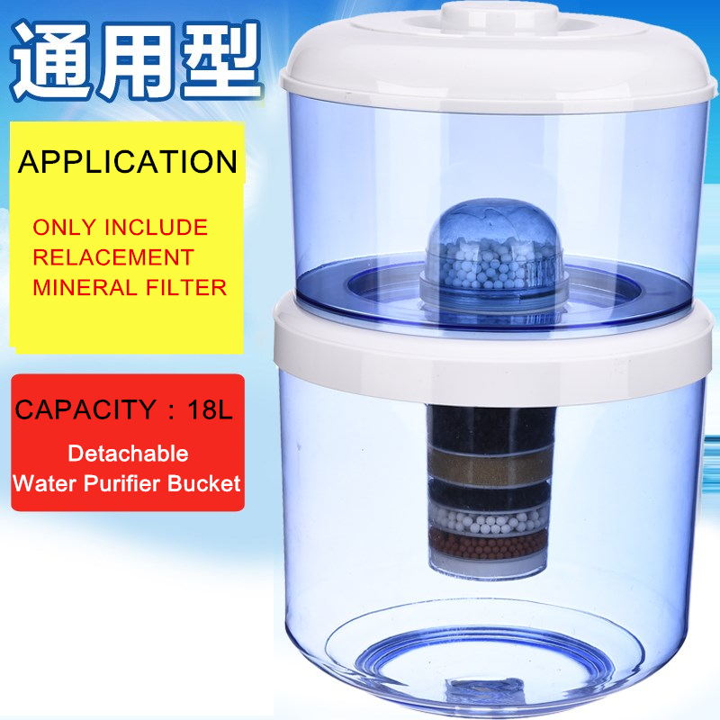 Water Filter Cartridges 6 Stage Activated Carbon Replacement Mineral Ceramic Filter Cartridge For Countertop Water Purifier Bucket Water Dispenser Home Appliances