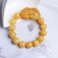 TJP natural china HUANGLONG jade PIXIU bracelets Zao cai bi xie men adn women love's jade pendant necklace Fine Jewelry