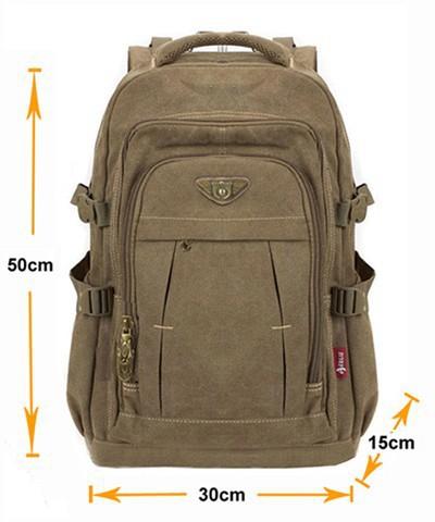 Man's Canvas Backpack Travel Schoolbag Male Backpack Men Large Capacity Rucksack Shoulder School Bag Mochila Escolar 1