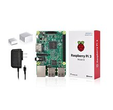 Discount! 3 in 1 Raspberry Pi 3 Kit with Wifi & Bluetoothal Raspberry Pi 3 Model B +Performance Heatsinks with 5V 2.5A Power Supply