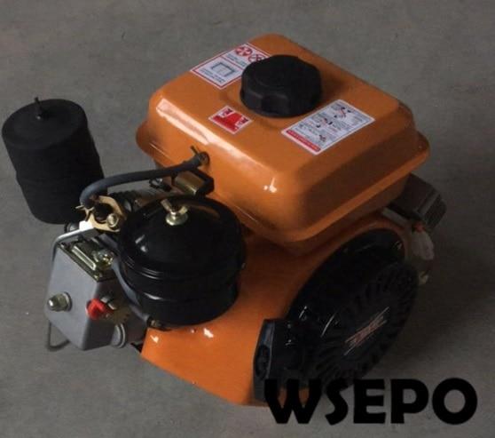 Suministro directo de fábrica Motor diésel refrigerado por aire, eje Horizontal, WSE-168F, 3.5HP, 196CC, 1.8KW, arranque eléctrico y aprobación CE