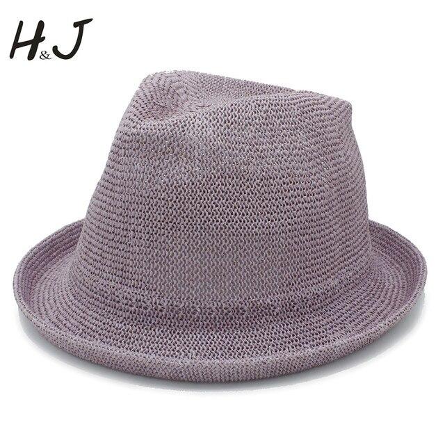 Moda Mulheres Homens Malha Praia seaside Sol chapéu Velejador Cavalheiro  Fedora Homburg Chapéus Pai Plana Praia dcf9ac5ce3a