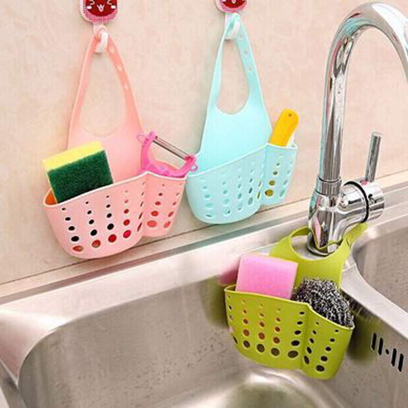 Portable Home Hanging Drain Bag Basket Bath Storage Tools Sink Holder Bathroom Accessories Holder Sabun Kitchen Dish Cloth Sponge
