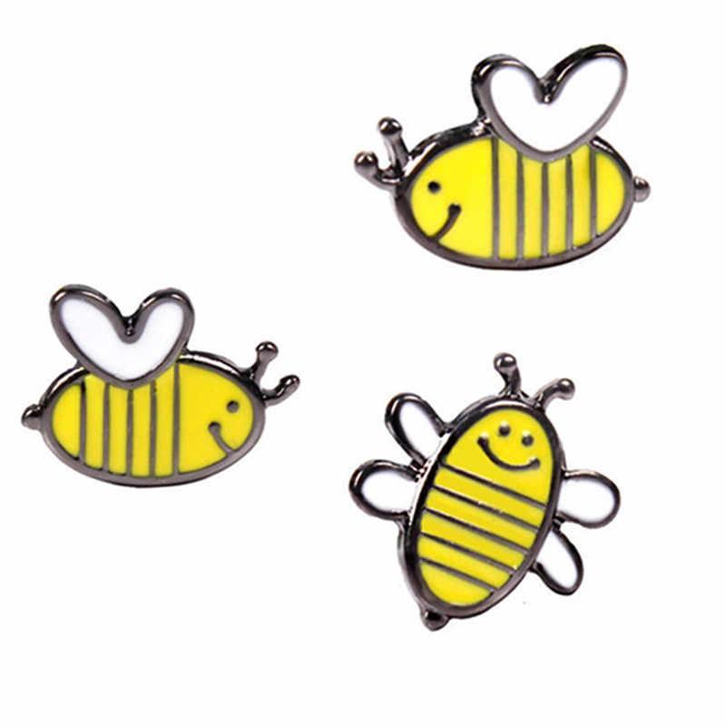 Hình Hoạt Hình đáng yêu Ong Nhỏ Thổ Cẩm Nữ Trẻ Em Bé Gái Trang Sức Vàng Men 3 Phong Cách Thổ Cẩm Hot New Trang Sức Phù Hợp Với