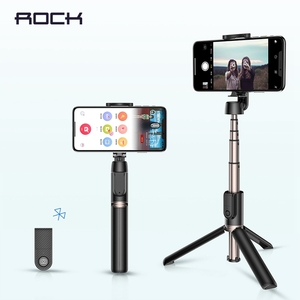 Image 1 - ロック Bluetooth Selfie スティックポータブルハンドヘルドスマート電話カメラの三脚用のワイヤレスリモコンで iphone サムスン Huawei 社の Android