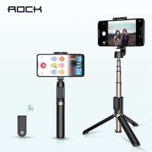 Портативная портативная селфи палка ROCK с Bluetooth, штатив для камеры смартфона с беспроводным дистанционным управлением для iPhone, Samsung, Huawei, Android