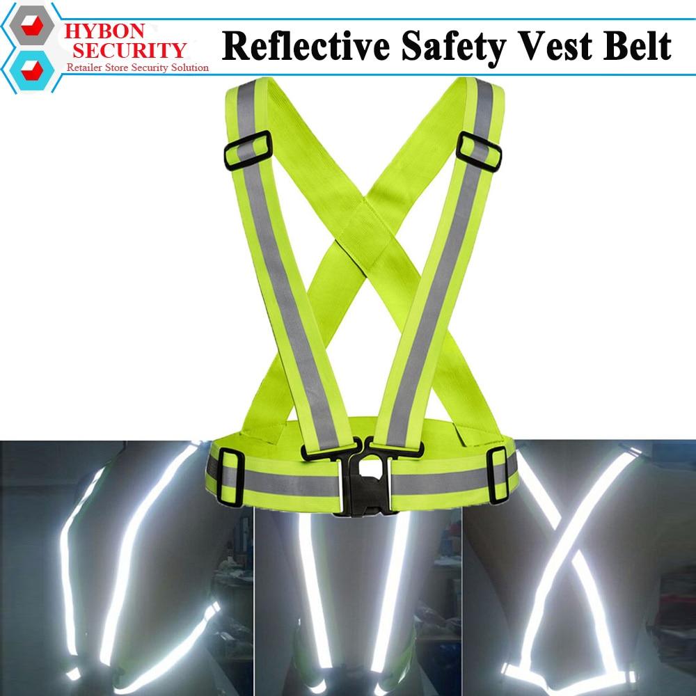 Reflective Safety Vest Belt Reflecterend Florecente Safety Straps Veiligheids Hesje For Night Running Jogging Walking Biking